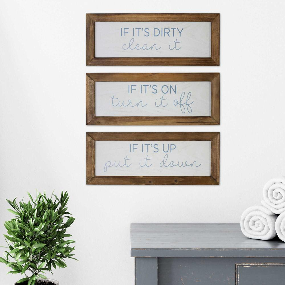 Set of 3 House Humor Wall Decor - 376623. Picture 6