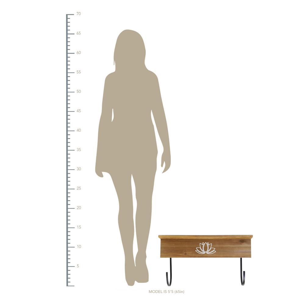 Yoga Mat Shelf with J-hooks - 376633. Picture 4