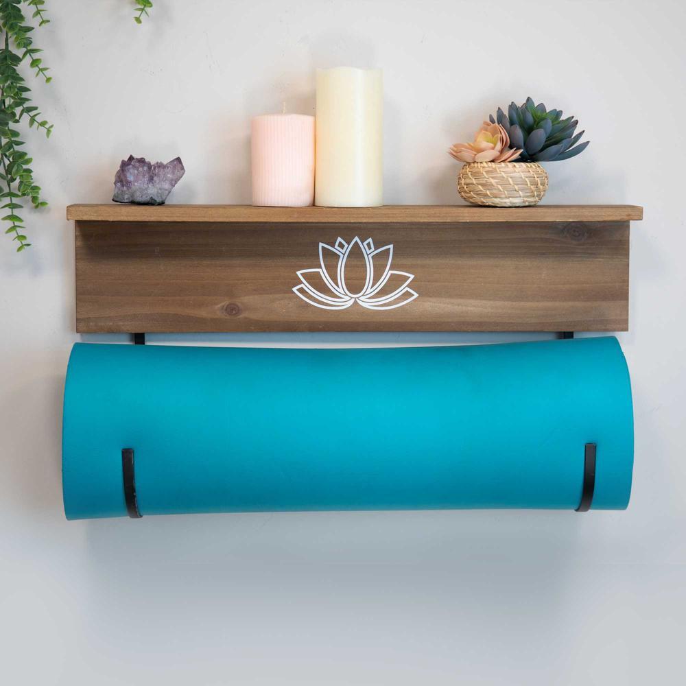 Yoga Mat Shelf with J-hooks - 376633. Picture 6
