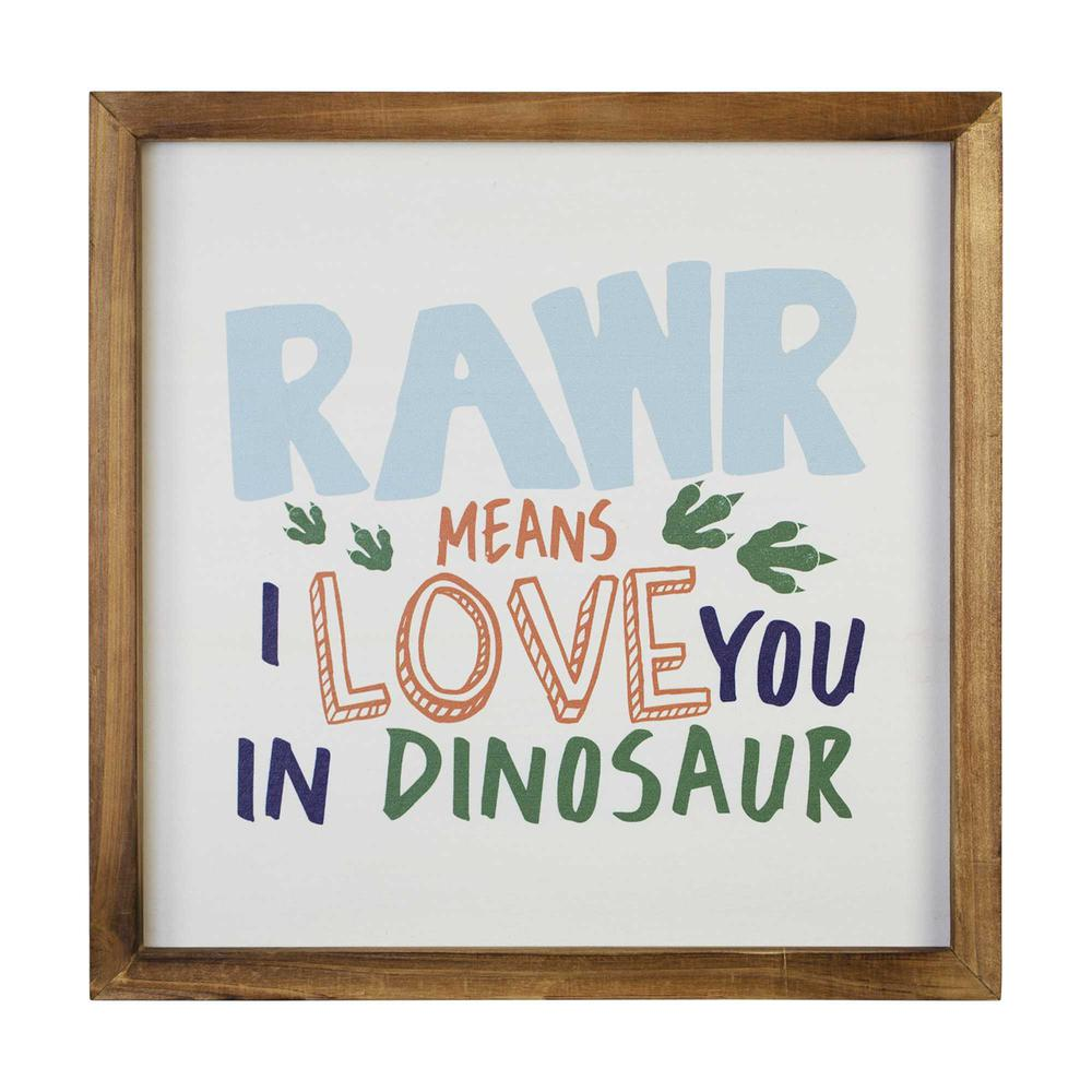 Dinosaur Rawr Quote Wall Art - 376639. Picture 1