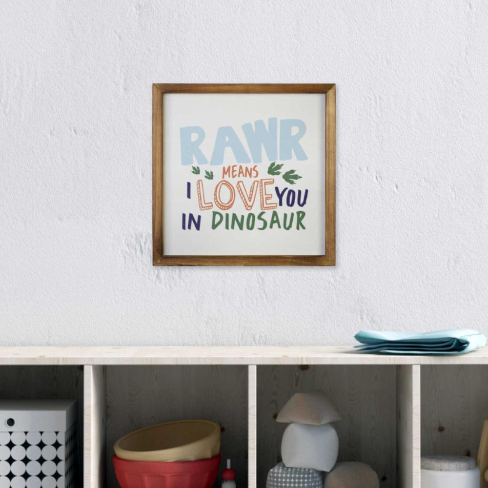 Dinosaur Rawr Quote Wall Art - 376639. Picture 6