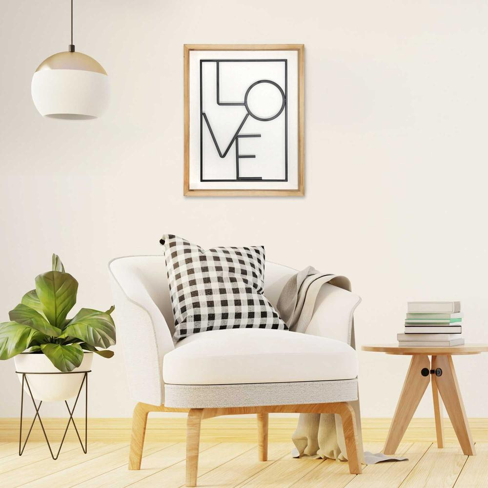 Metal LOVE on White Framed Wall Art - 376647. Picture 2
