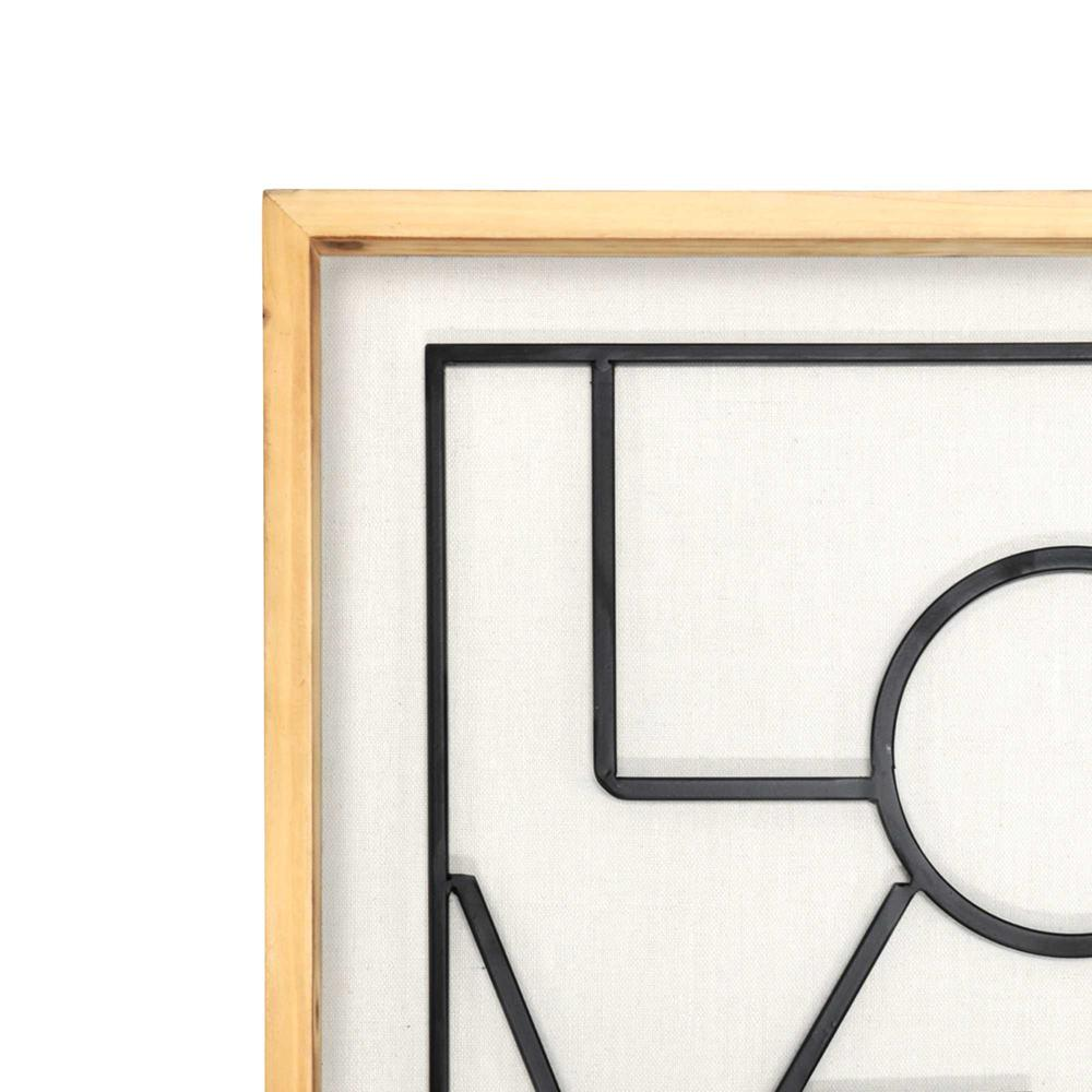Metal LOVE on White Framed Wall Art - 376647. Picture 3