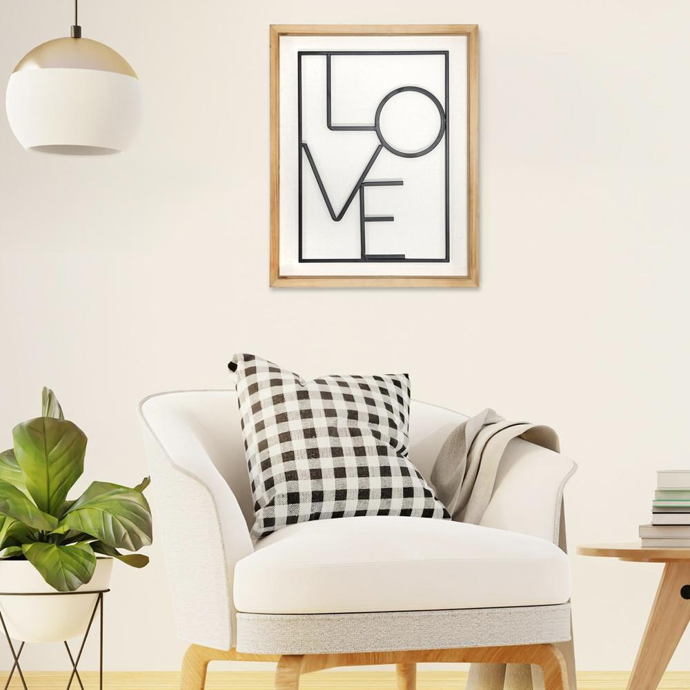 Metal LOVE on White Framed Wall Art - 376647. Picture 6