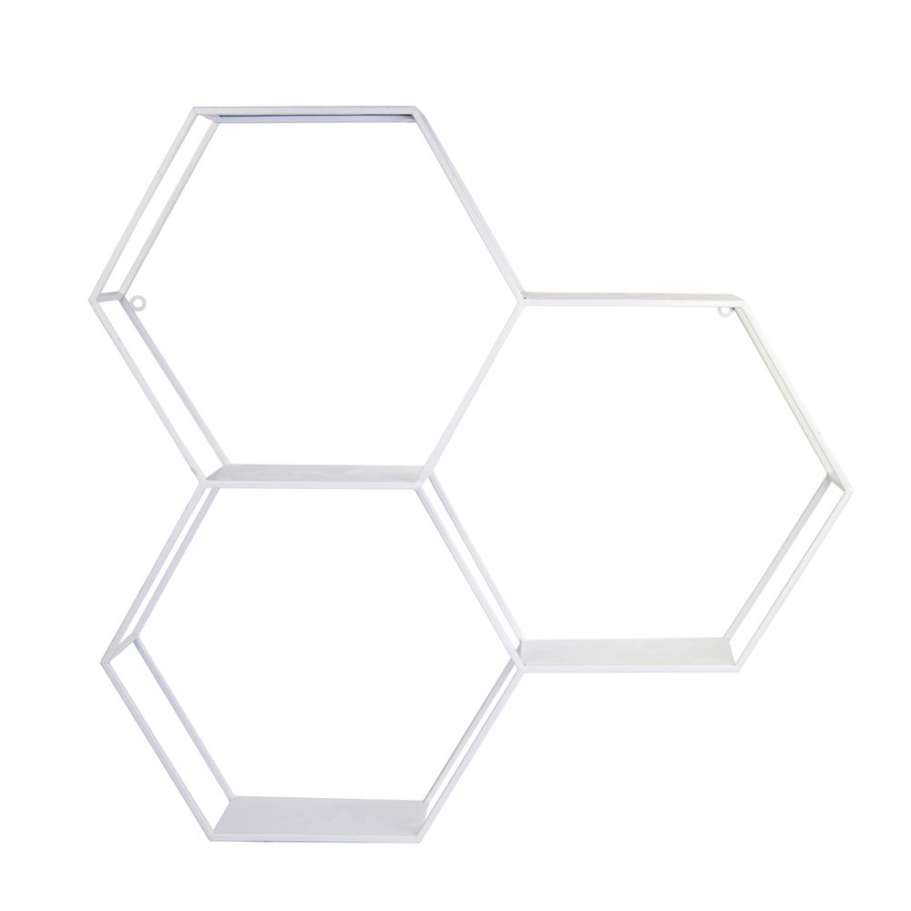 Hexagonal Metal Shelf with D-Ring - 376648. Picture 1