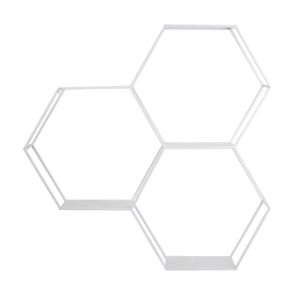 Hexagonal Metal Shelf with D-Ring - 376648. Picture 5