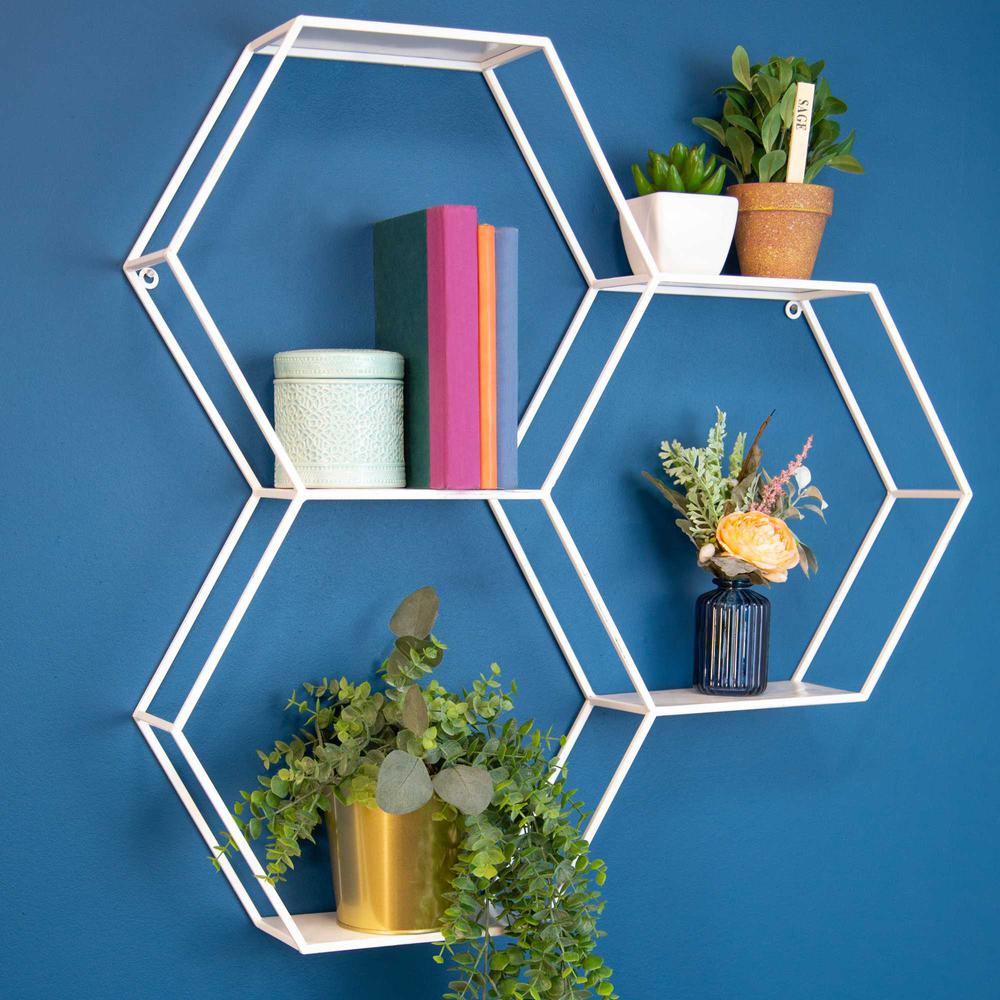 Hexagonal Metal Shelf with D-Ring - 376648. Picture 6