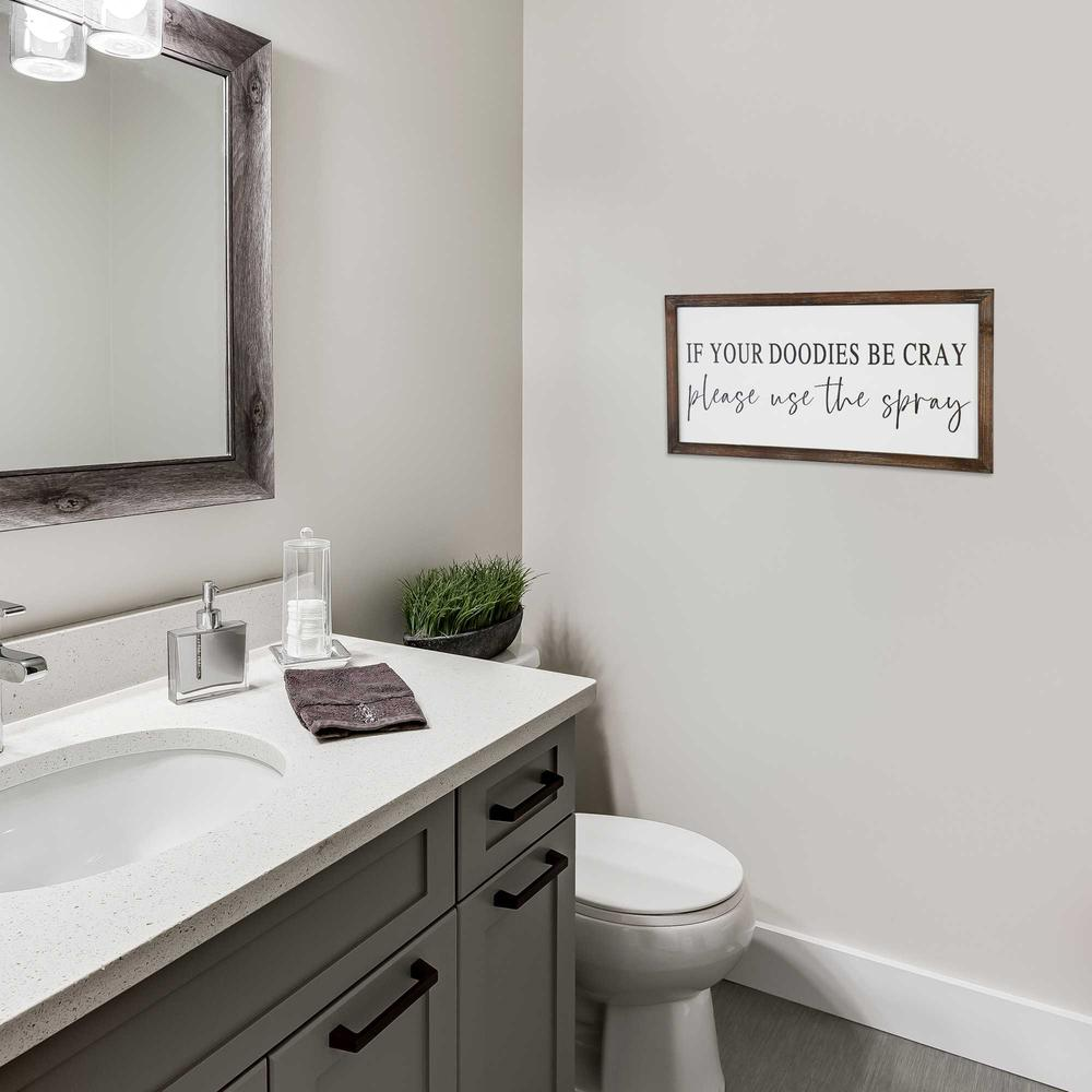 Black and White Framed Bathroom Humor Wall Art - 376654. Picture 2