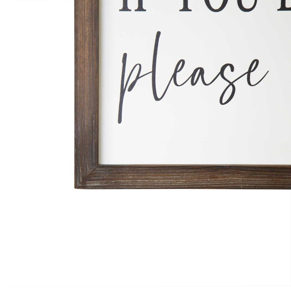 Black and White Framed Bathroom Humor Wall Art - 376654. Picture 3