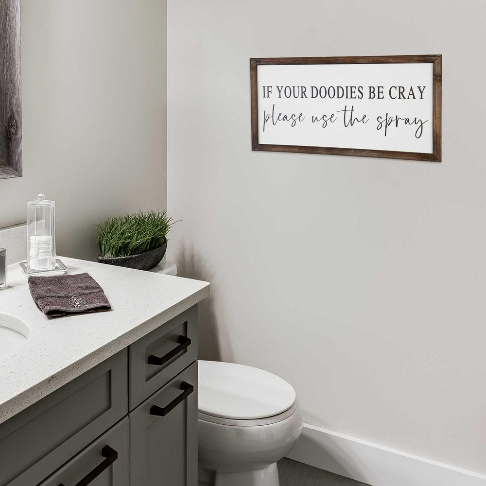 Black and White Framed Bathroom Humor Wall Art - 376654. Picture 6