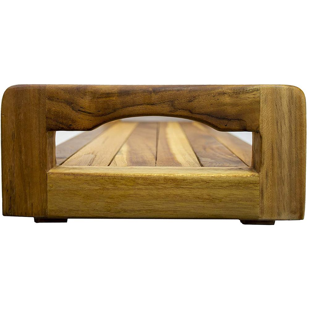 """29"""" Teak Wood Fully Assembled Bath Tray and Seat with LiftAide Arms in Earthy Teak Finish - 376659. Picture 3"""