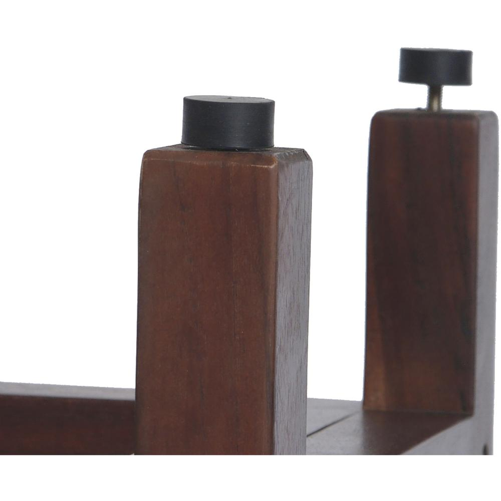 Rectangular Teak Shower Bench with Handles in Brown Finish - 376663. Picture 4