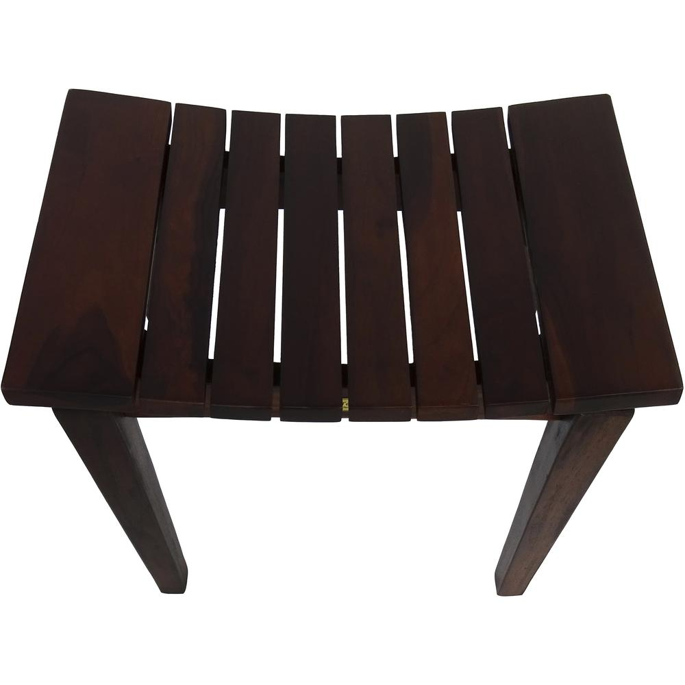 Contemporary Flared Teak Shower Stool or Bench in Brown Finish - 376679. Picture 3