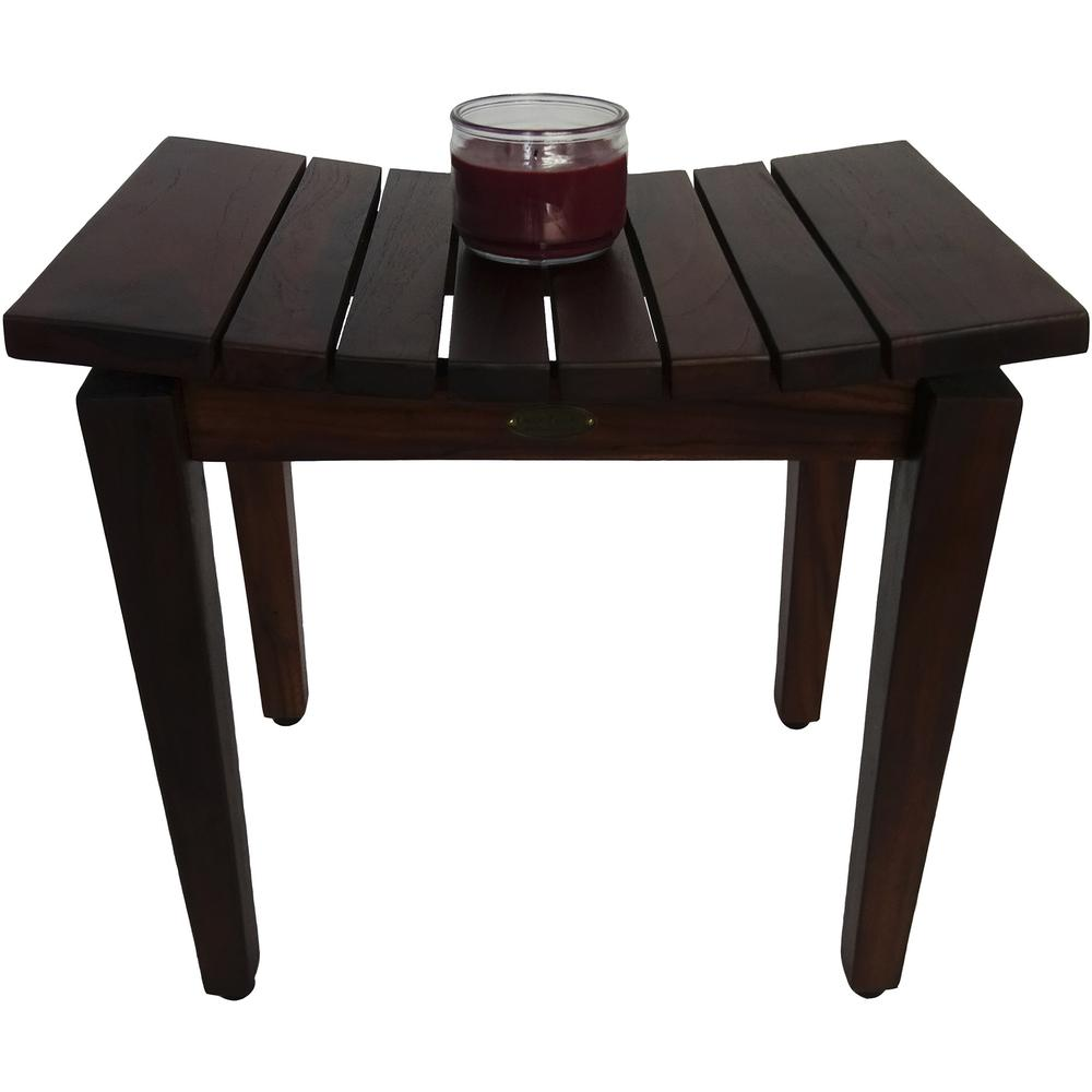 Contemporary Flared Teak Shower Stool or Bench in Brown Finish - 376679. Picture 4