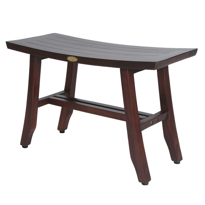 Contemporary Teak Shower Stool or Bench in Brown Finish - 376685. Picture 1
