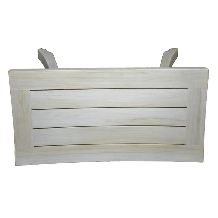 Contemporary Teak Shower Stool or Outdoor Bench in Whitewash Finish - 376713. Picture 5