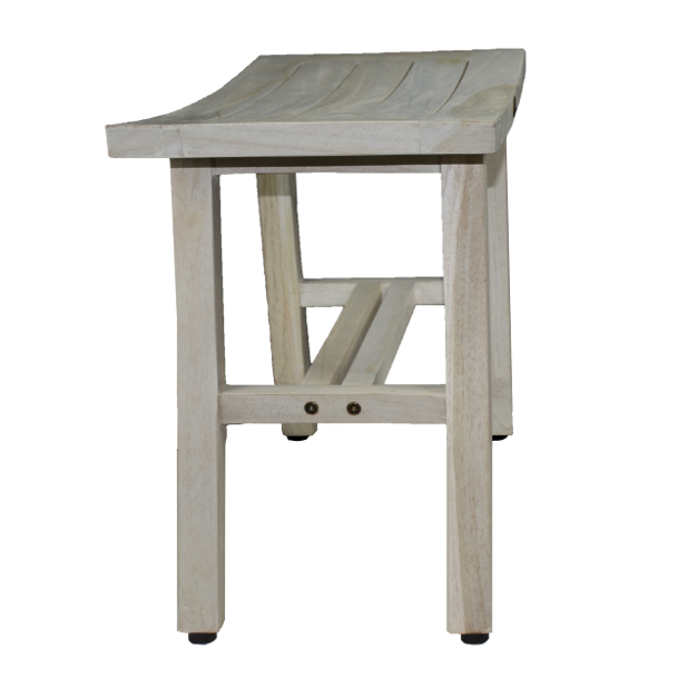 Contemporary Teak Shower Stool or Bench in Whitewash Finish - 376714. Picture 4