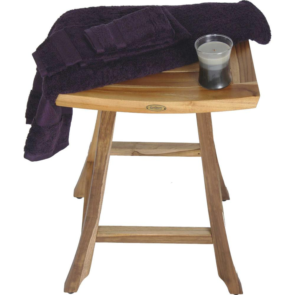 Compact Teak Counter Stool in Natural Finish - 376717. Picture 5