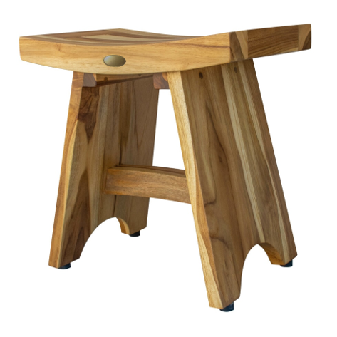 Compact Contemporary Teak Shower Stool in Natural Finish - 376726. Picture 3