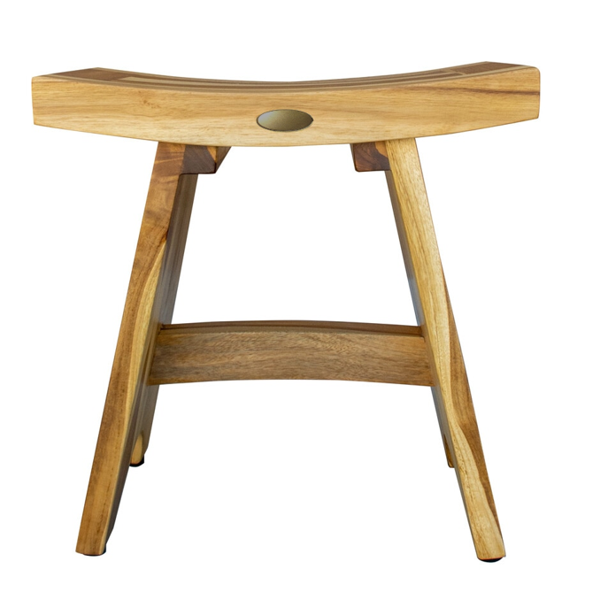 Compact Contemporary Teak Shower Stool in Natural Finish - 376726. Picture 4