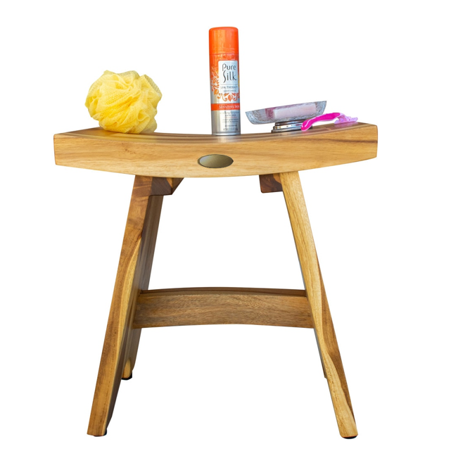 Compact Contemporary Teak Shower Stool in Natural Finish - 376726. Picture 7