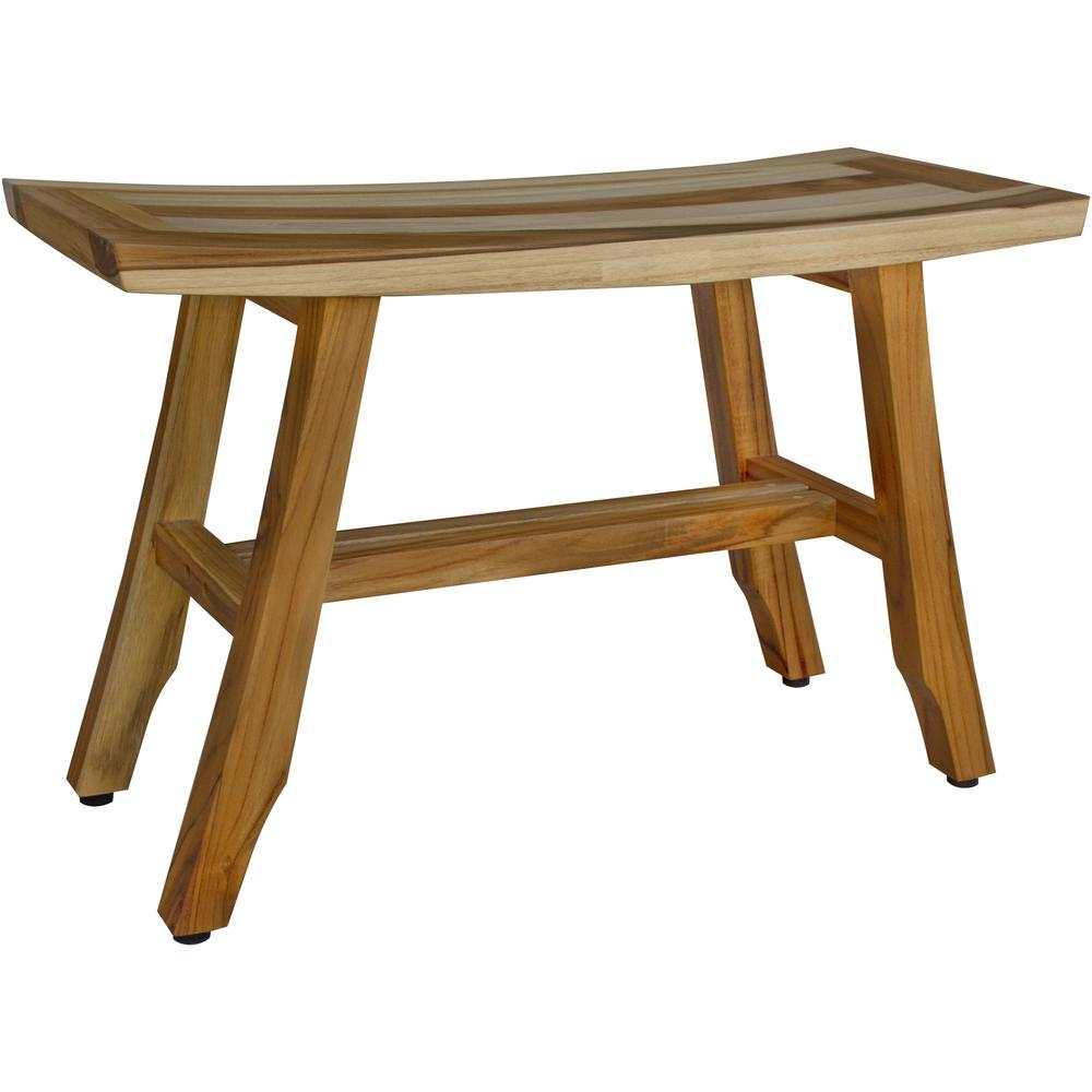 Contemporary Teak Shower Bench in Natural Finish - 376741. Picture 1