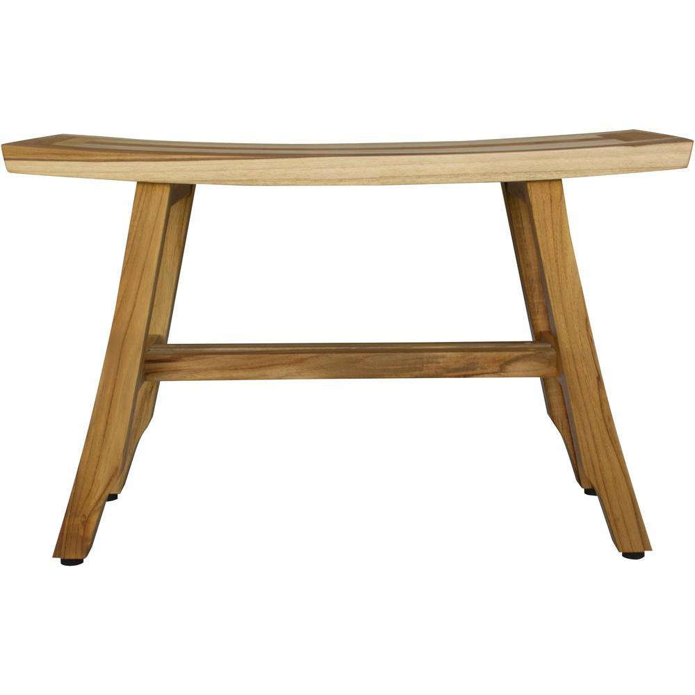 Contemporary Teak Shower Bench in Natural Finish - 376741. Picture 2