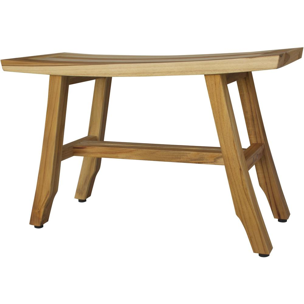 Contemporary Teak Shower Bench in Natural Finish - 376741. Picture 3