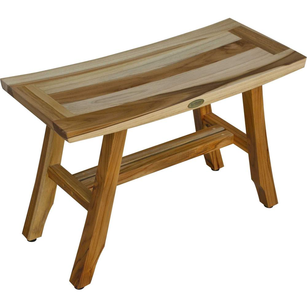 Contemporary Teak Shower Bench in Natural Finish - 376741. Picture 4
