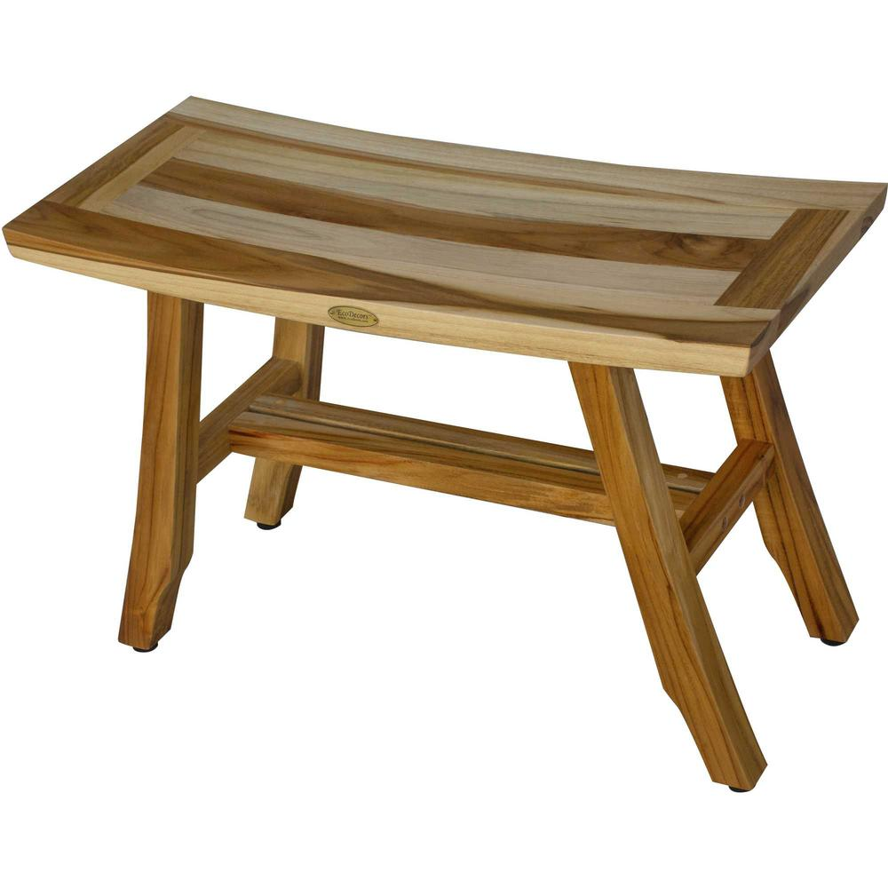 Contemporary Teak Shower Bench in Natural Finish - 376741. Picture 5