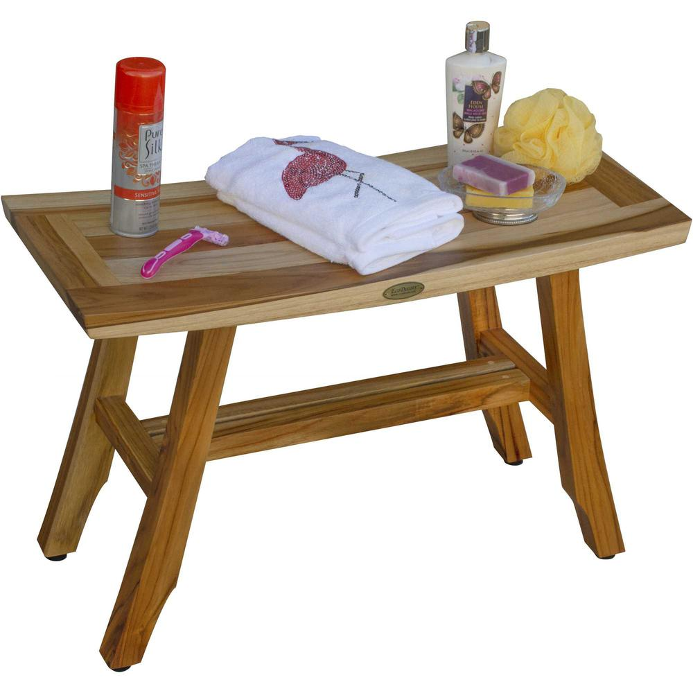 Contemporary Teak Shower Bench in Natural Finish - 376741. Picture 6