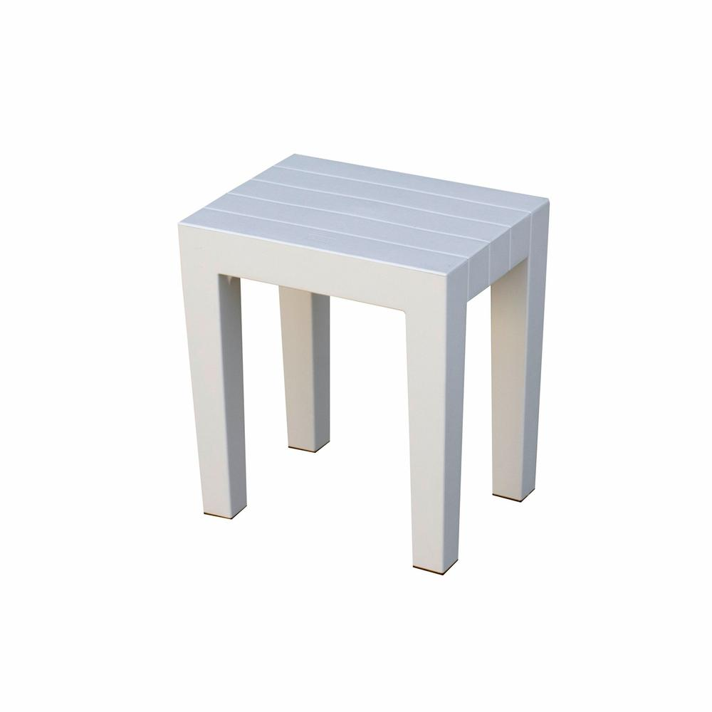 Super Sturdy Plastic Shower Stool in White - 376777. Picture 2