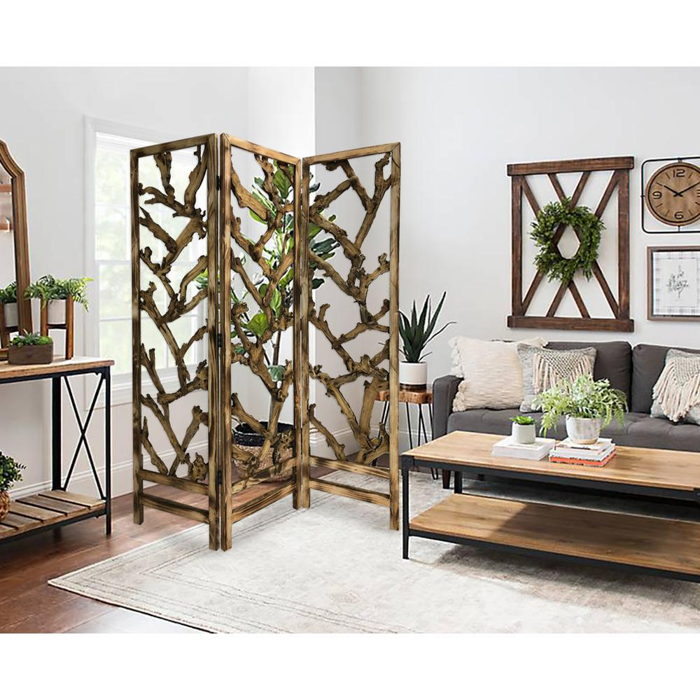 3 Panel Room Divider with Tropical leaf - 376797. Picture 1