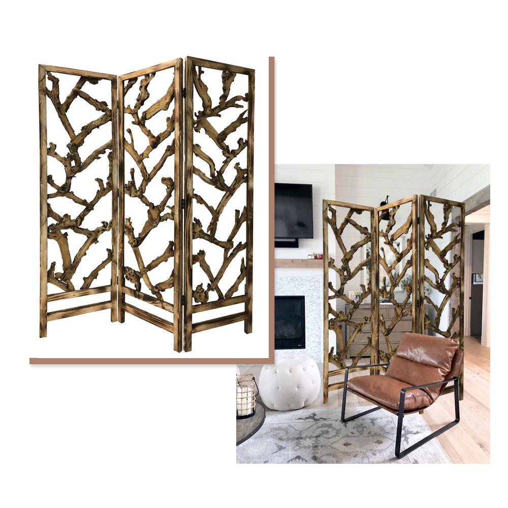 3 Panel Room Divider with Tropical leaf - 376797. Picture 2