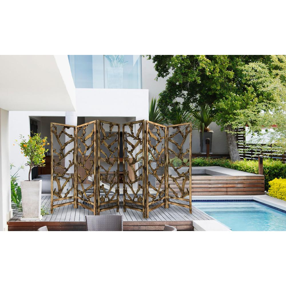 3 Panel Room Divider with Tropical leaf - 376797. Picture 3