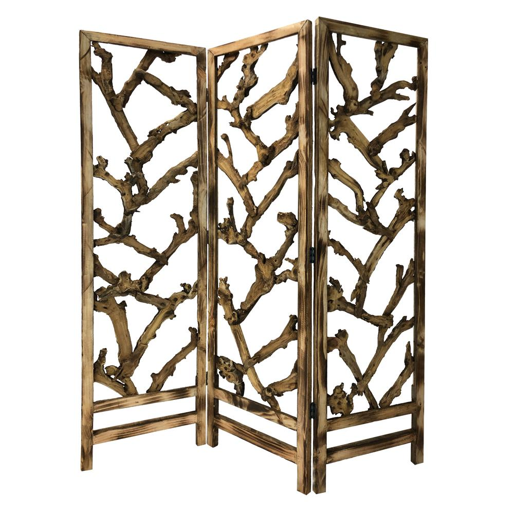3 Panel Room Divider with Tropical leaf - 376797. Picture 6