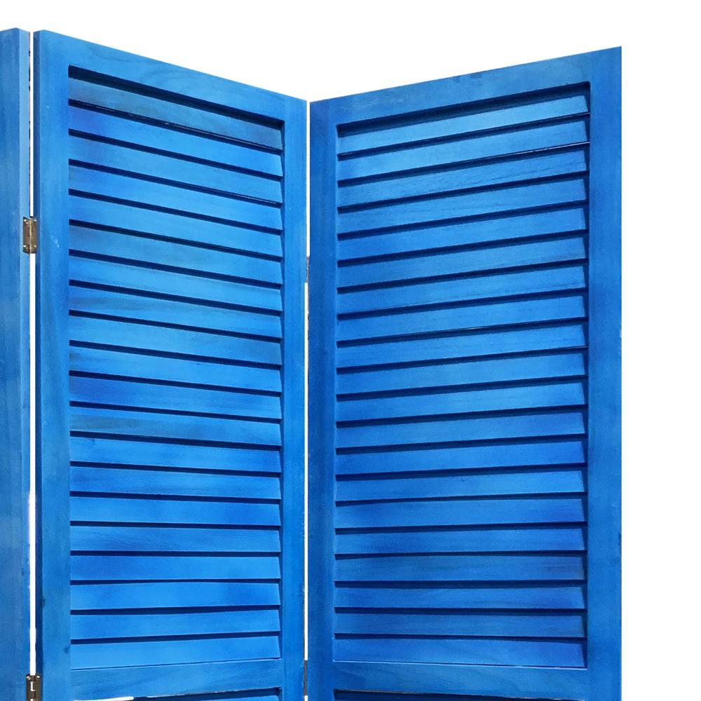 3 Panel Light Blue Shutter Screen Room Divider - 376802. Picture 1