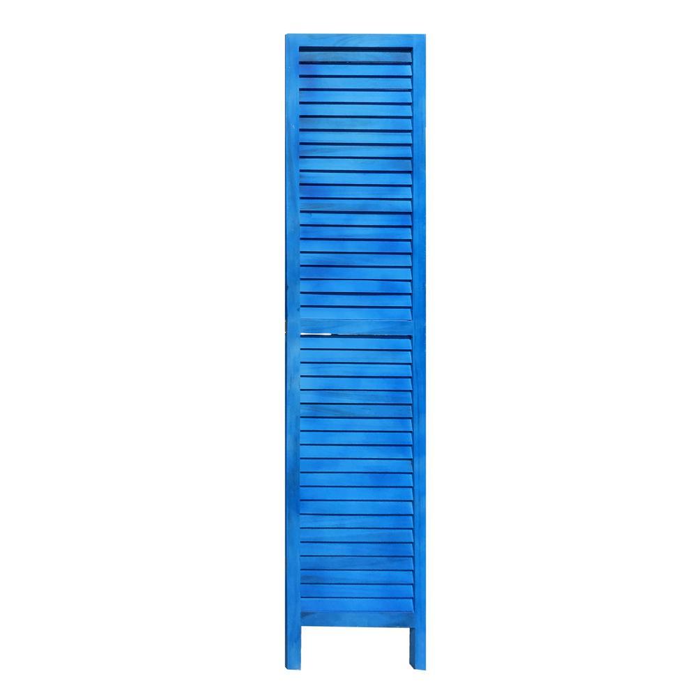 3 Panel Light Blue Shutter Screen Room Divider - 376802. Picture 2