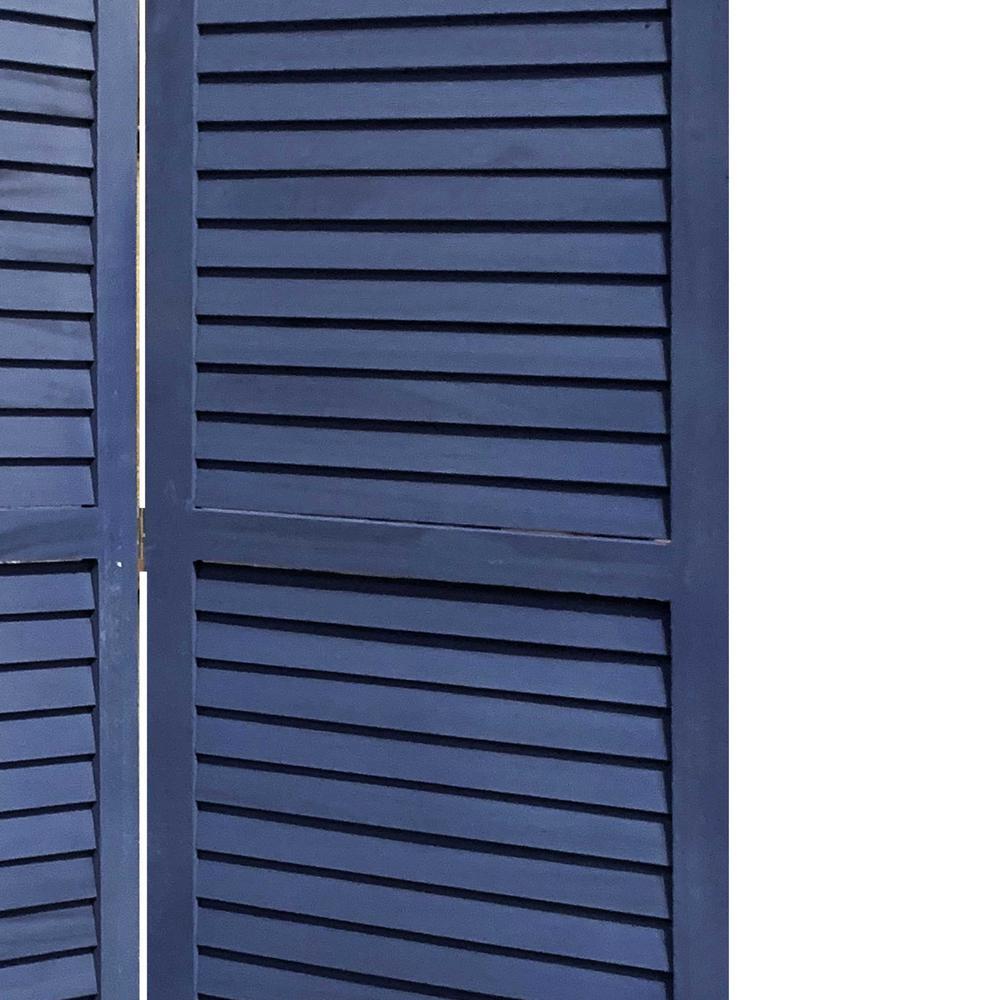 3 Panel Dark Blue Shutter Screen Room Divider - 376803. Picture 1