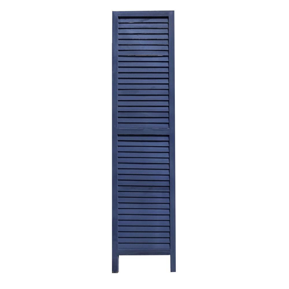 3 Panel Dark Blue Shutter Screen Room Divider - 376803. Picture 2