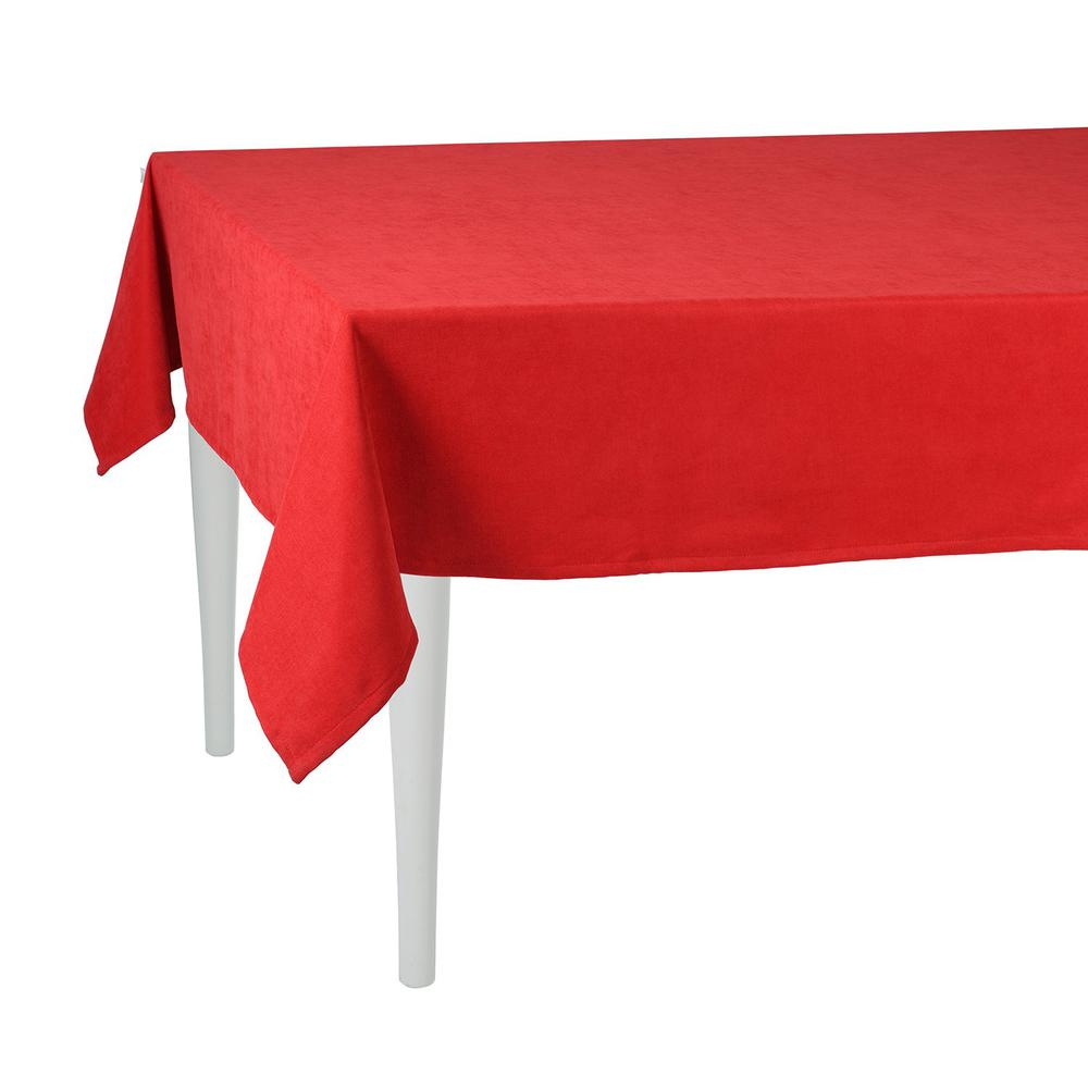 """70"""" Merry Christmas Rectangle Tablecloth in  Red - 376813. Picture 2"""
