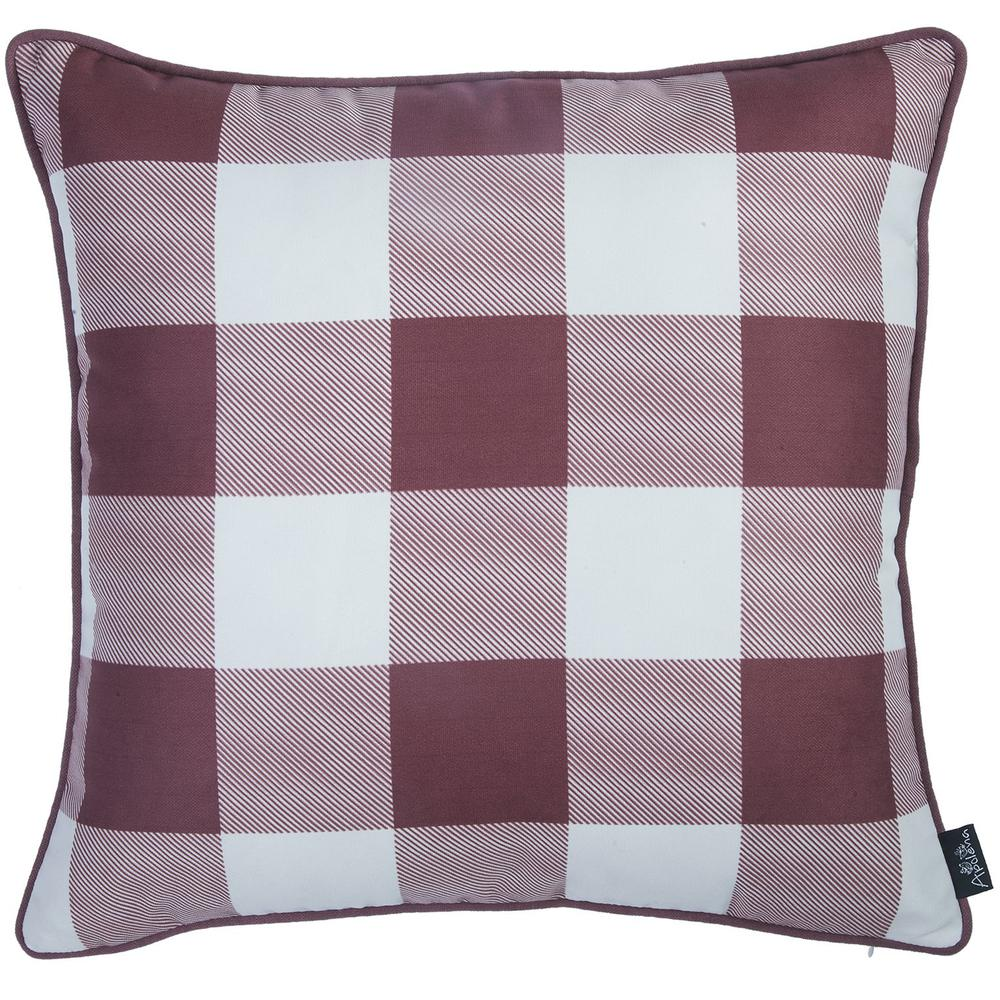 """Set of 4 18"""" Thanksgiving Gingham Throw Pillow Cover in Multicolor - 376863. Picture 3"""