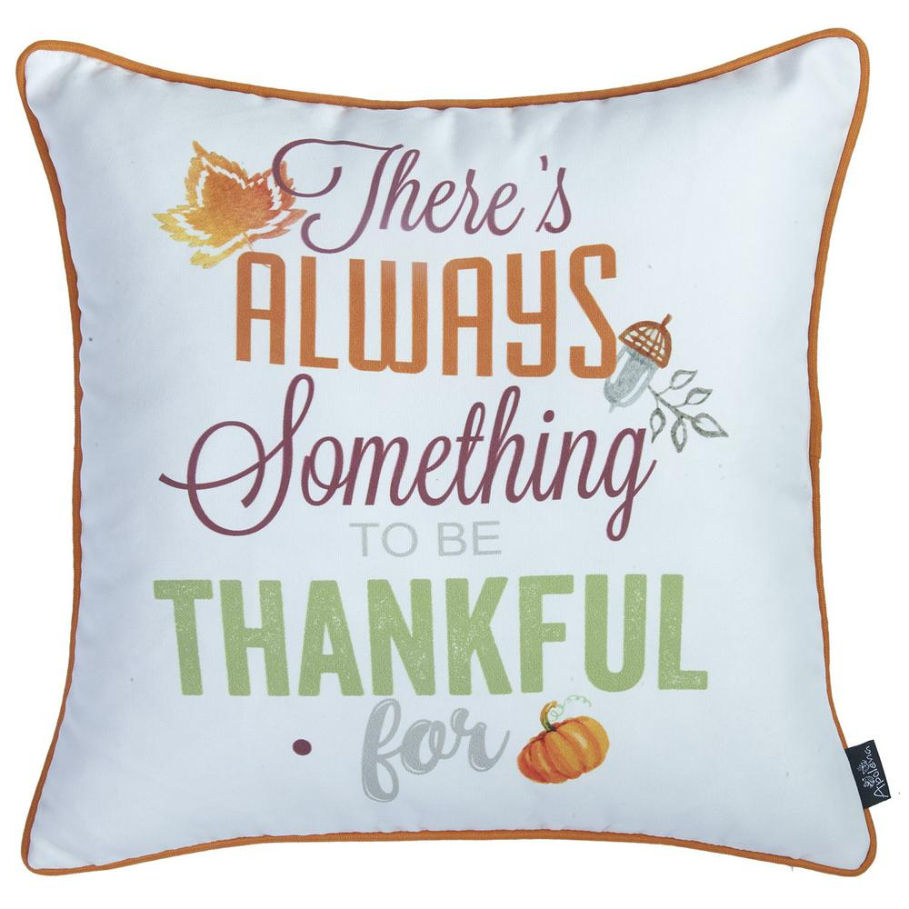 """Set of 4 18"""" Thanksgiving Gingham Throw Pillow Cover in Multicolor - 376863. Picture 4"""