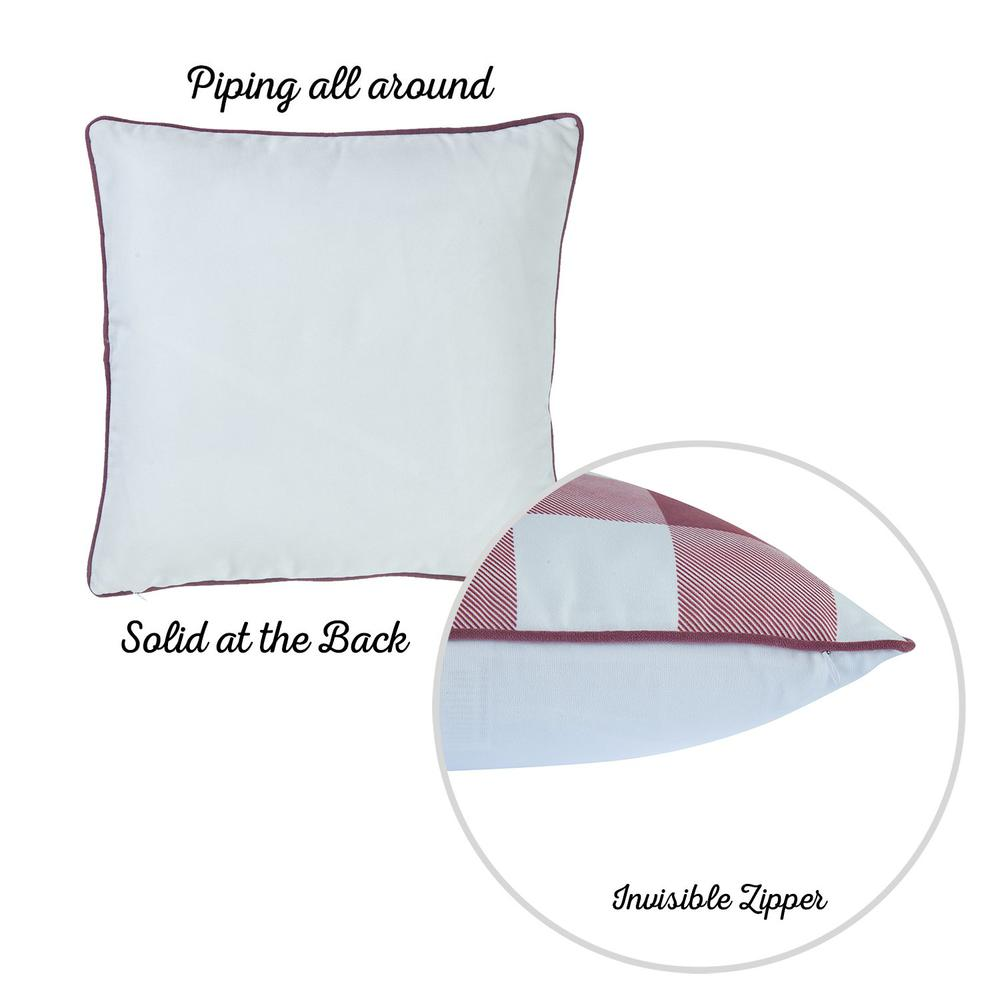 """Set of 4 18"""" Thanksgiving Gingham Throw Pillow Cover in Multicolor - 376863. Picture 5"""