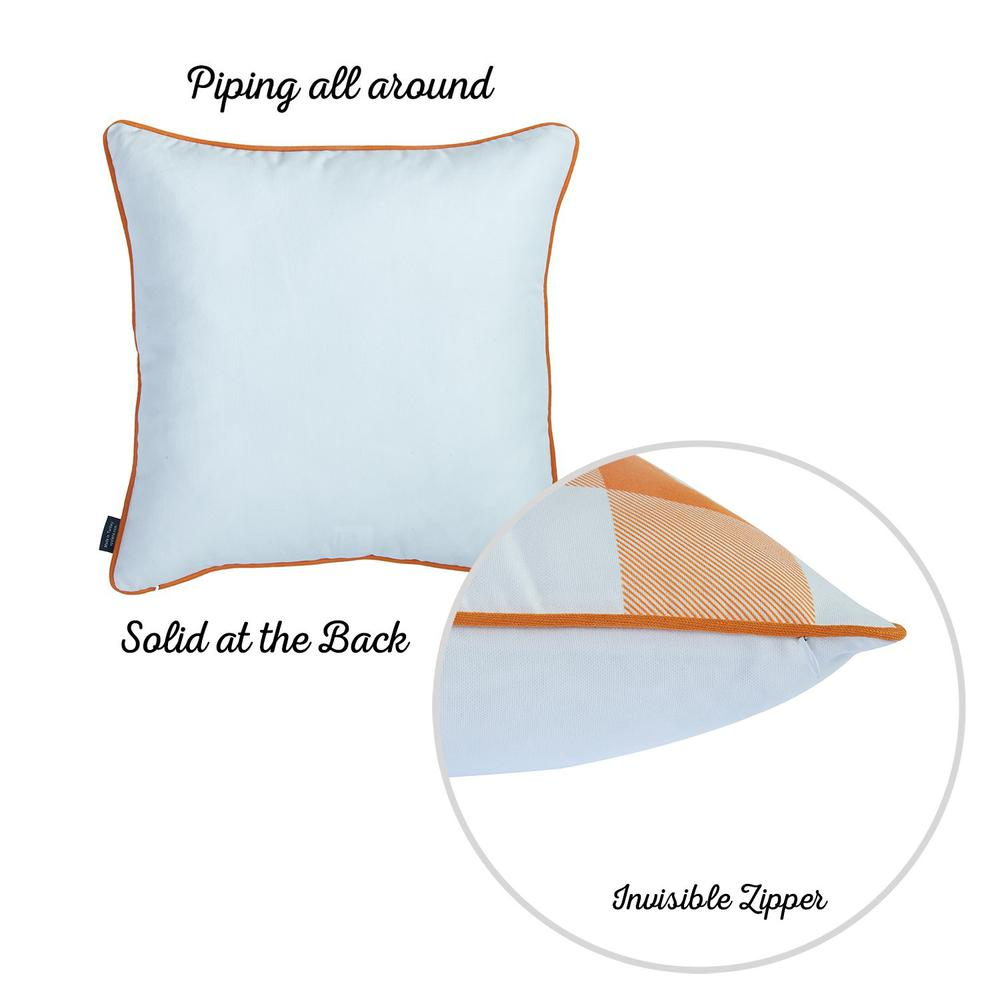 """Set of 4 18"""" Fall Season Pumpkin Throw Pillow Cover in Multicolor - 376866. Picture 5"""