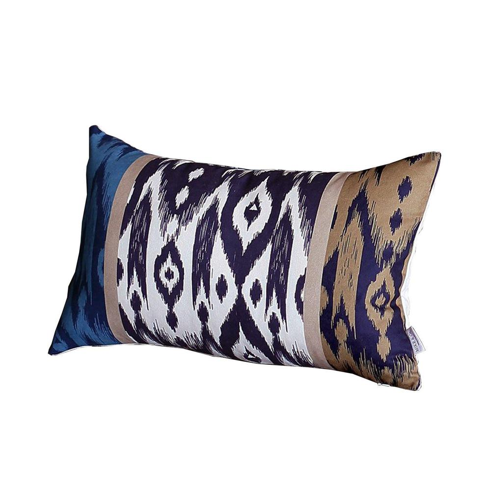 """Set of 4 20"""" Ikat Lumbar Pillow Cover in Beige - 376870. Picture 2"""