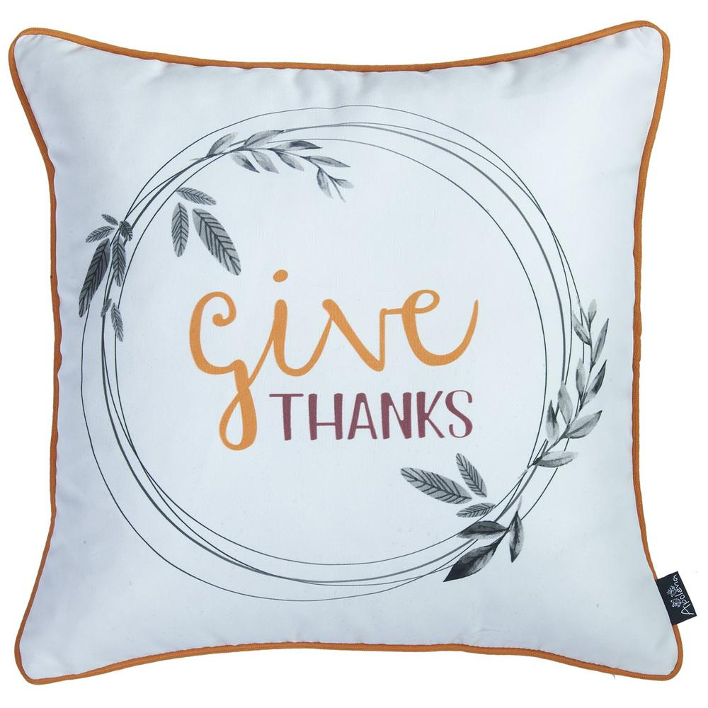 """Set of 2 18"""" Thanksgiving Pie Throw Pillow Cover in Multicolor - 376883. Picture 2"""