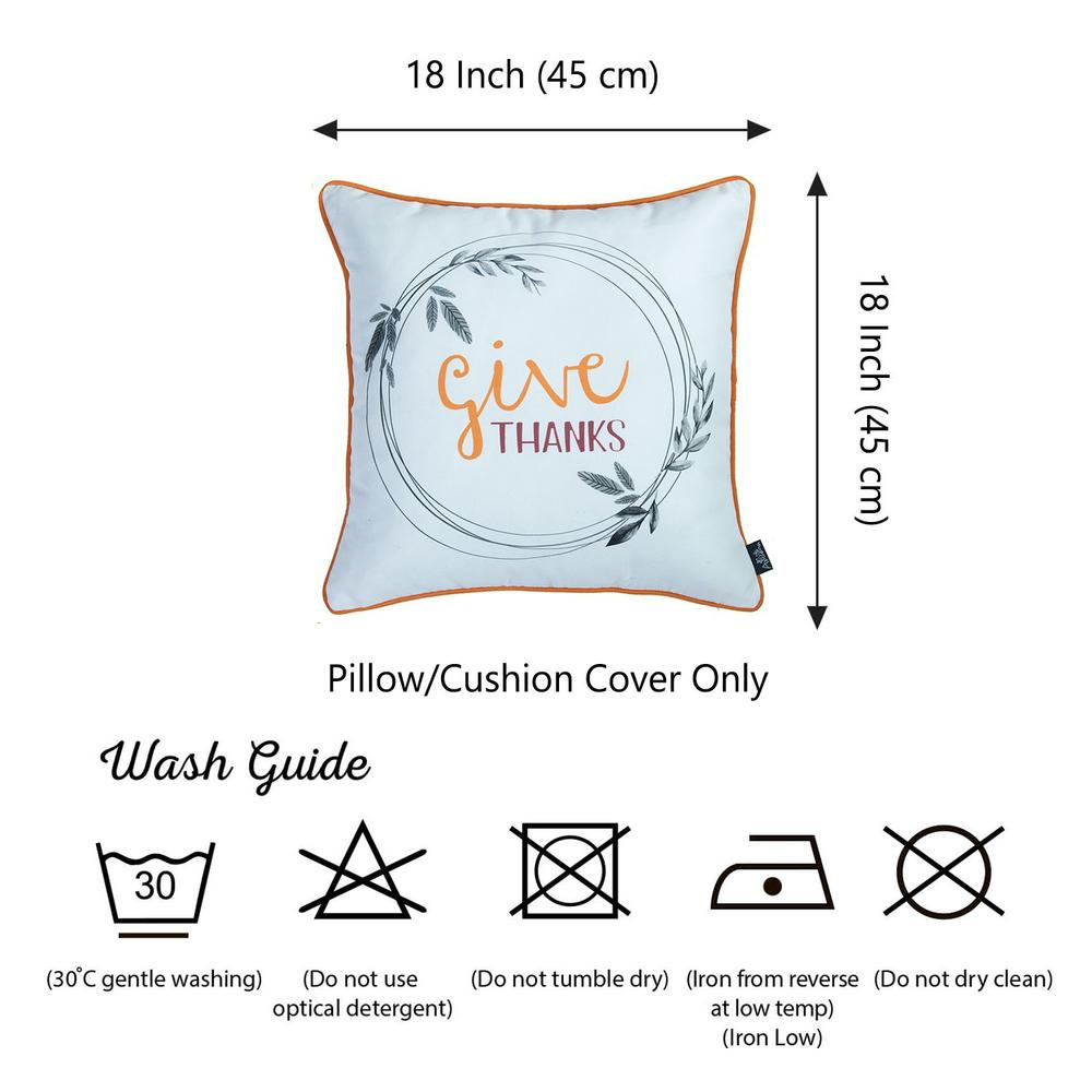 """Set of 2 18"""" Thanksgiving Pie Throw Pillow Cover in Multicolor - 376883. Picture 4"""