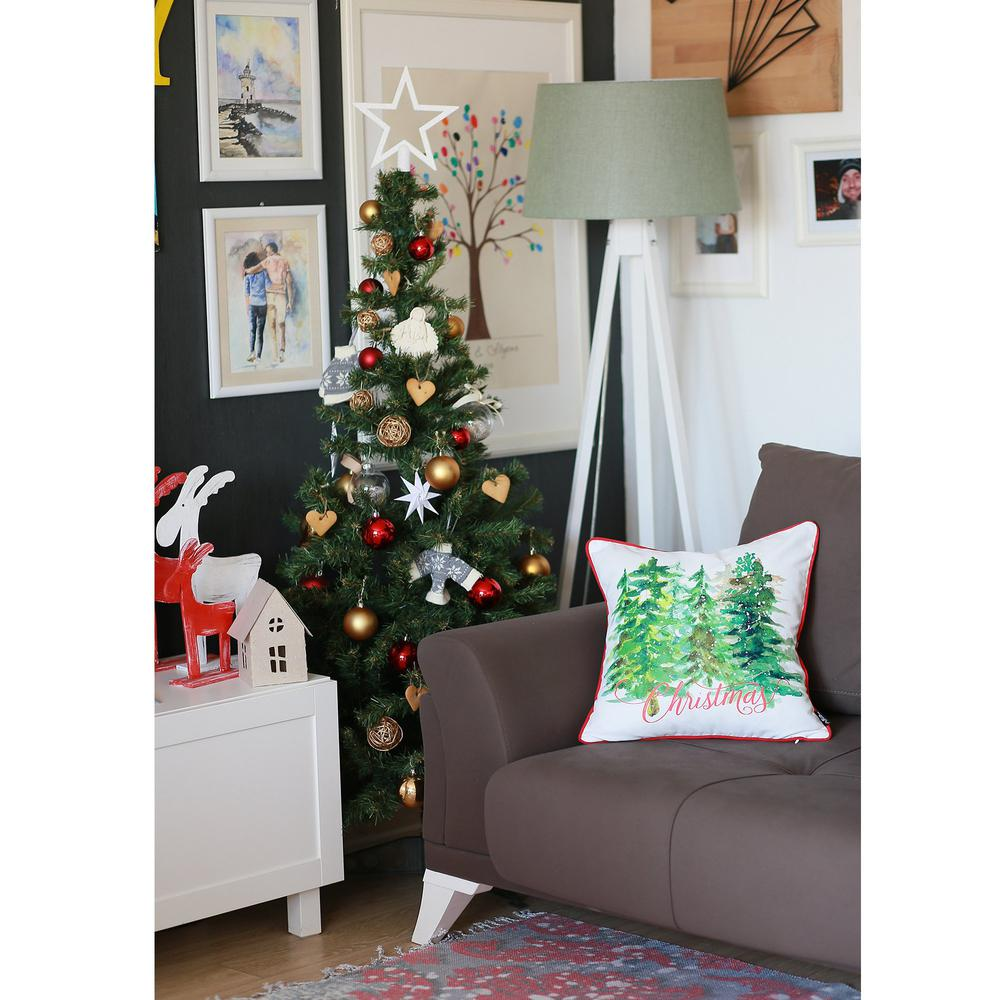 """Set of 2 18"""" Christmas Trees Throw Pillow Cover in Multicolor - 376884. Picture 2"""