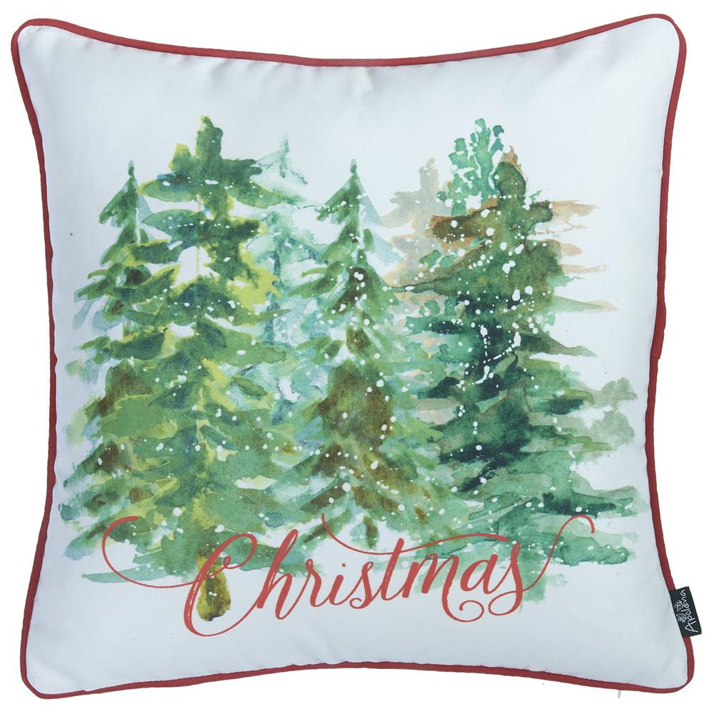 """Set of 2 18"""" Christmas Trees Throw Pillow Cover in Multicolor - 376884. Picture 3"""